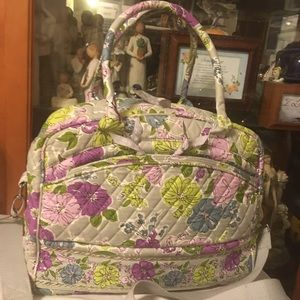 Vera Bradley Quilted Laptop Cross Body Bag